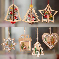 decoration-sapin-noel-bois-peint
