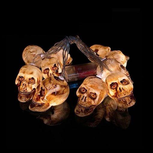 Deco halloween têtes de mort marron
