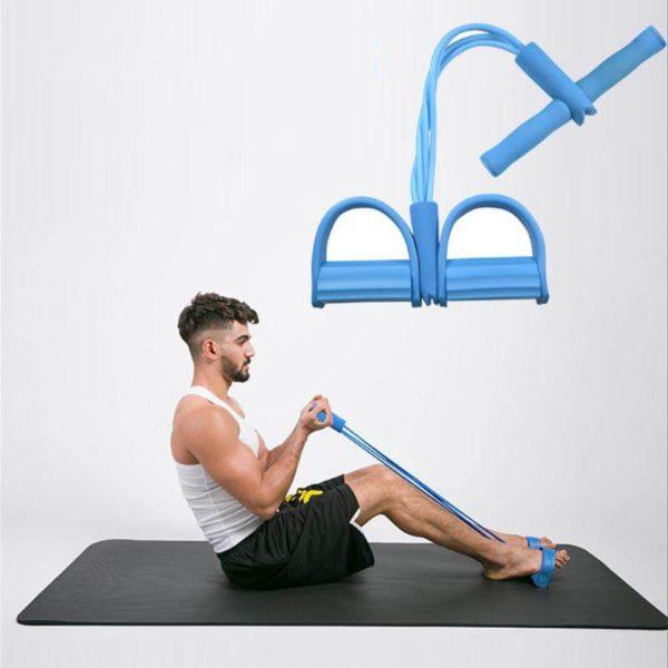 Elastique de sport bleu pour faire les bras