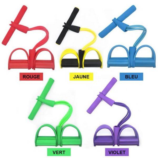 Elastique fitness Rouge, Jaune, Bleu, Vert et Violet