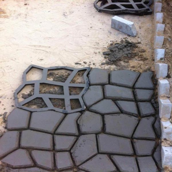 Moule pour beton empreinte