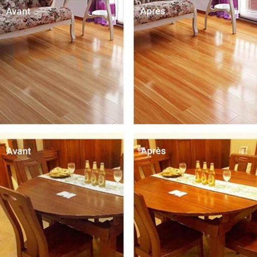 Nettoyer table en bois