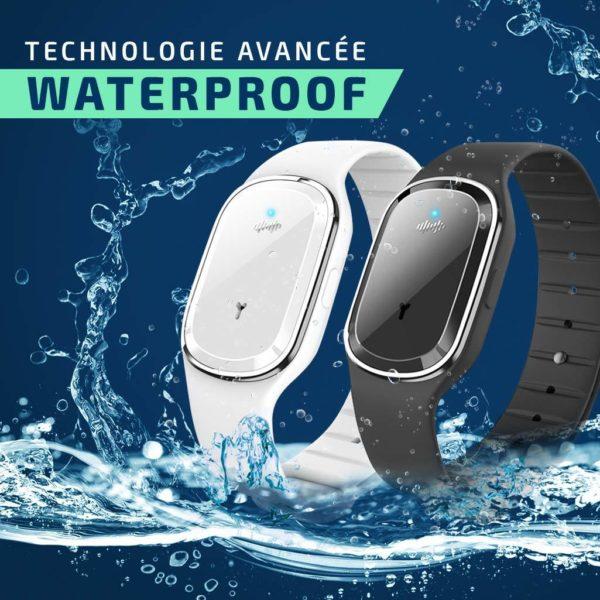 Bracelet anti moustique waterproof
