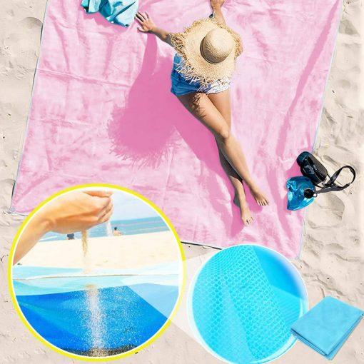 Serviette de plage sable