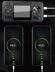 Console de jeux ancienne qui charge vos téléphones