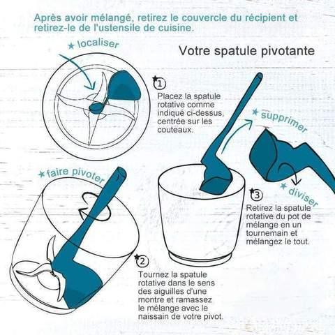Spatule rotative pour thermomix