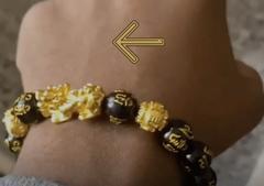 Tourner la tête de Pixiu vers l'extérieur pour le bracelet Feng Shui de Boom Attitude
